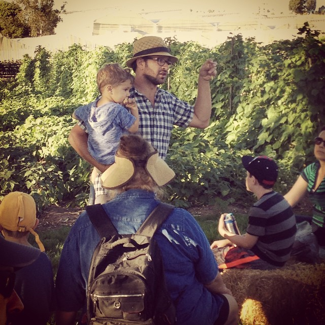 Farmer D explains the concept of #Shmita at the farm at #LeichtagFoundation. @agrowingpassion