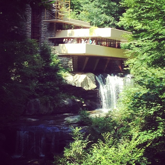 #franklloydwright designed #FallingWater. On #nansterman lifelong #bucketlist. Absolutely phenomenal place to see!  @agrowingpassion