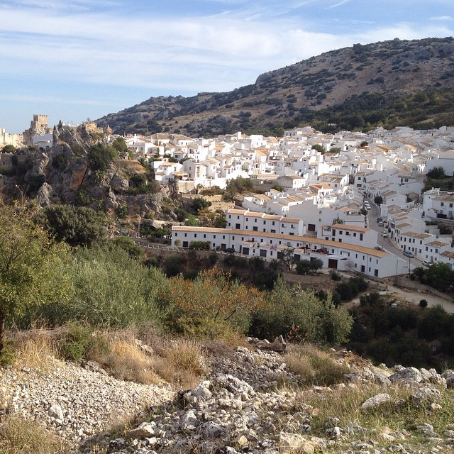 The town of #Zuheros near Cordoba #Spain as seen from the trail. @agrowingpassion