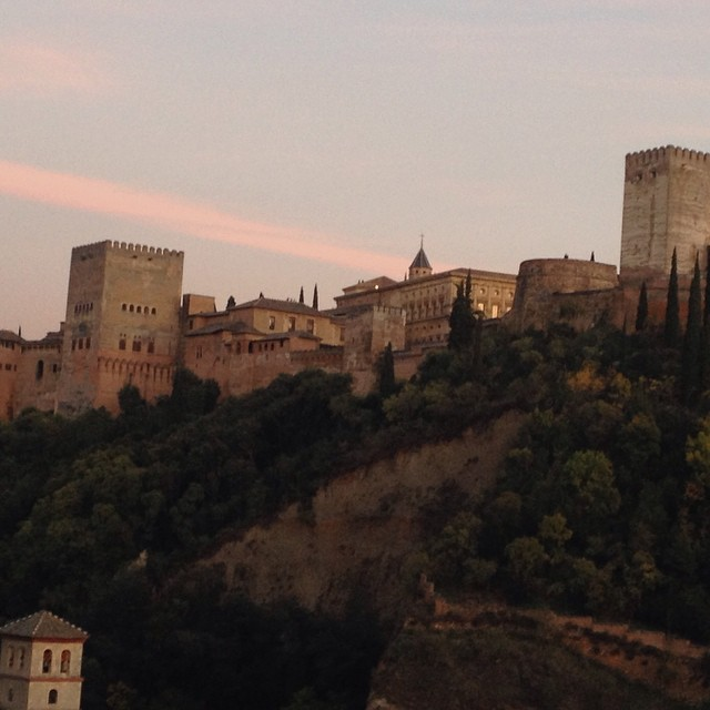 #sunset over #TheAlhambra  @agrowingpassion