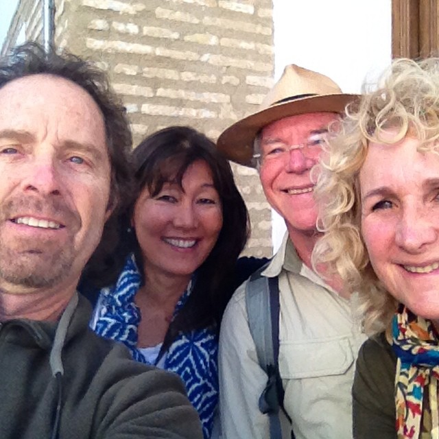 A group #selfie as we leave our wonderful house in the #Albaycin in #Granada  @agrowingpassion