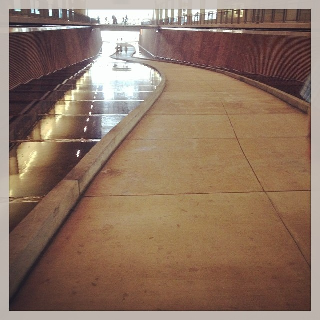 #riverscape under the #Pittsburgh Convention Center  #gwa14. @agrowingpassion