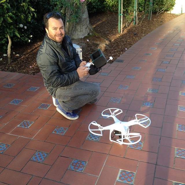 Octocopter #OnLocation at San Simeon.  Ready to fly! #TodaysShoot @agrowingpassion