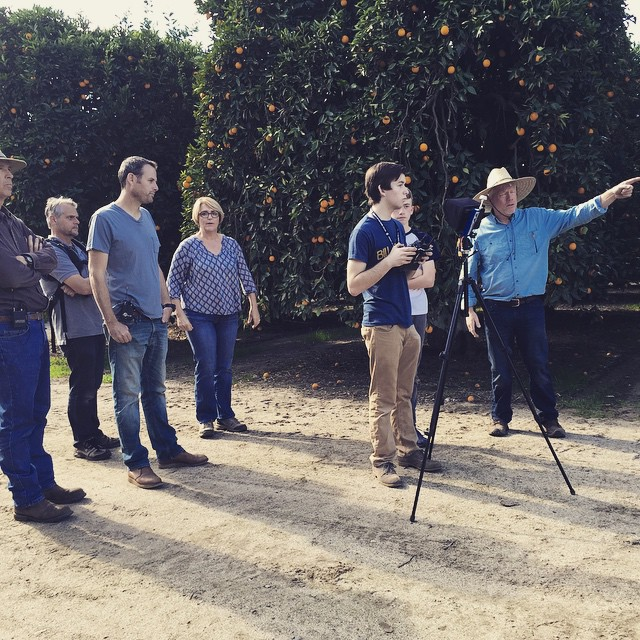 All about #citrus!  #shootingtoday #onlocation with a drone at Rancho Monte Vista with the Lyall family, fourth generation orange growers in #PaumaValley #SanDiego County. @agrowingpassion