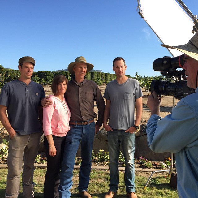 A family of #farmers at Rancho Monte Vista. Tim, Jan, Warren, and Andy Lysll (L to R). Third and fourthe generation orange growers. Learn about their history, practices, and philosophy in our our upcoming episode about citrus coming this spring on #AGrowingPassion. #shootingtoday #onlocation @agrowingpassion