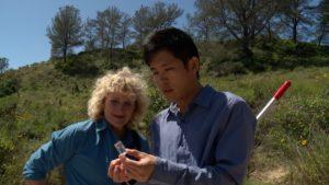 James Hung shows Nan a bee